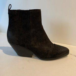 Western style suede booties